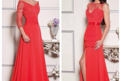 Vestidos de fiesta en color rojo - Elegante, exclusiva, brillante!